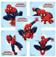 "20 Spiderman Shaped Stickers, 2.25"" x 2.25"" each, Party Favors"