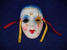 New Orleans Souvenier Wall Mask Marti Gras Porcelain