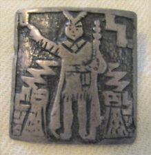 vintage PERU PLATA 925 Sterling PIN BROOCH Lightning Man Feathers