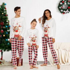 Family Matching Adult Christmas Pyjamas Xmas Nightwear Pajamas PJs Sets Festive