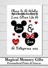 Disney love valentines day gift couples a3 canvas boyfriend girlfriend husband
