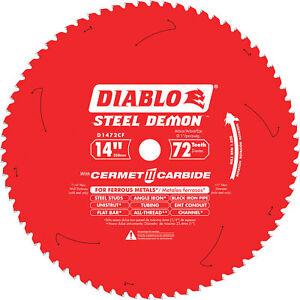 Diablo D1472CF Steel Demon Cermet II Carbide Circular Saw Blade 14in/72 Tooth