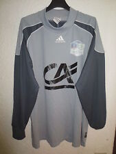 Maillot goal porté n°16 COUPE GAMBARDELLA ADIDAS gris match worn shirt L