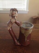 "Vintage Our Gang 1980 Large Bearded Cowboy Mug Tankard Stoneware 9 1/4"" tall"