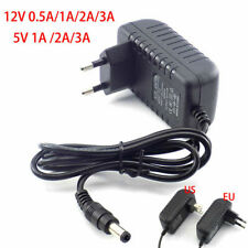 DC 5V 12V 0.5A 1A 2A 3A Power Supply Charger Adapter Transformer For LED Strip