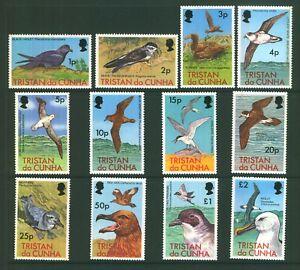 Tristan da Cunha 1977 QEII Wild Life Birds set of mint stamps value to £2  MNH