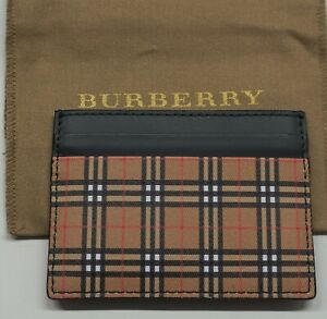 Authentic Burberry Men Unisex Vintage Check Sandon Card Case ID Holder