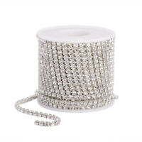 10M Rhinestone Chain Trim Ribbon Crystal Clear Sparkle Sewing DIY Decor Crafts