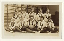 """'WE ARE THE CHAMPIONS"""": TEAM PHOTO OF WOMENS BASKETBALL TEAM IN RIDGEWOOD, N.J."""