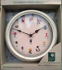 RHS British Garden Flora Clock ** PURCHASE YOUR TODAY **