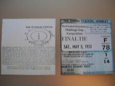 1973 F.A. Cup Final Ticket Leeds United v Sunderland mint condition reproduction