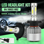 2021 UK 3-Side H4 LED Headlight Car Bulbs 300W 36000LM High And Low Beam Bright
