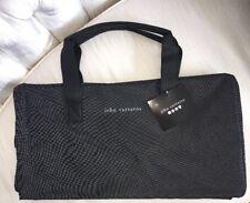 NWT John Varvatos Men's Weekender Bag / Duffle Bag Gym Bag Black White Pin Dot
