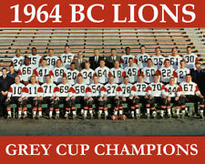 CFL BC LIONS 1960 Grey Cup Champions 8 X 10 Photo Picture