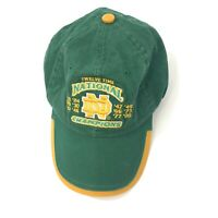 Vintage Notre Dame Hat 12 Twelve Time National Champions Football 1988 The Game