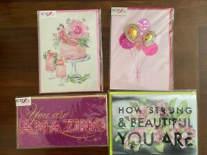 4-Papyrus All BCRF Birthday You are Amazing Strong Beautiful Cards