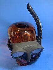 Mares Viper Dive Mask & Scubapro Apnea Snorkel Spearfishing Freediving Black