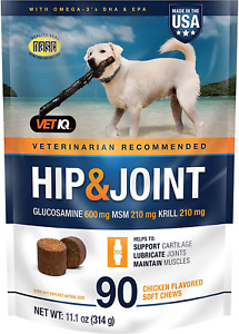 VETIQ Maximum Strength Hip and Joint Supplement for Dogs, Chicken Flavored Soft