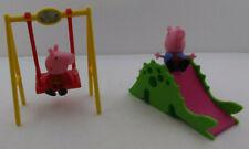 PEPPA PIG Dino Park Slide and swing + 2 Figures Peppa Pig & George !!!