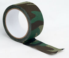 CAMOUFLAGE FABRIC TAPE. 10 METERS X 5 CM. ADHESIVE ARMY CAMO DPM CLOTH.