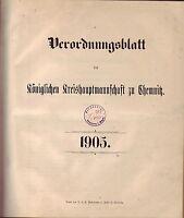Verordnungsblatt der Königlichen Kreishauptmannschaft zu Chemnitz 1903