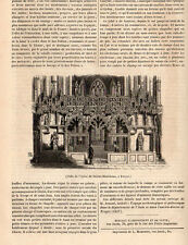 10 TROYES EGLISE STE MADELEINE CHURCH PRESS ARTICLE 1847 PRINT
