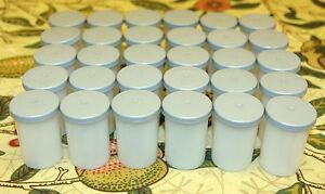 30 x 35mm Kodak Film Canisters Pots Tubs with Gray Lids - Geocaching, Loom Bandz
