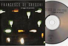 FRANCESCO DE GREGORI CD singolo PROMO made in ITALY Ti leggo nel pensiero 2003