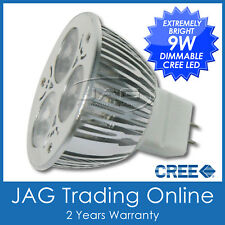 12V 9W (3x3W) CREE LED COOL WHITE MR16 DIMMABLE DOWN LIGHT BULB- Downlight Globe
