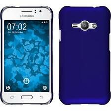 Hardcase Samsung Galaxy J1 ACE rubberized blue Cover + protective foils