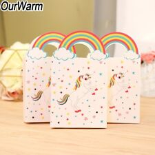 10pcs Paper Unicorn Candy Treat Gift Bags Sweet Bo Kids Birthday Party Favor