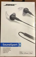 BOSE SoundSport In-Ear Earbuds Headphones For Apple / iPhone Charcoal Black NEW