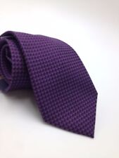 $95 CLUB ROOM Mens PURPLE WHITE CHECK DOT NECK TIE DRESS CASUAL NECKTIE 59x3.25