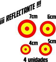 (1050) 4 x Vinilo pegatina bandera de España REFLECTANTE Escarapela coche moto