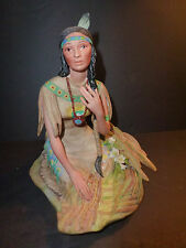 "Cybis Porcelain Dakota ""Laughing Water"" Minnehaha Indian Woman"