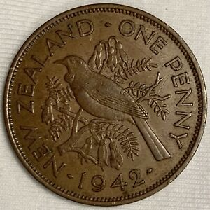 1942 New Zealand Penny Coin (L125)
