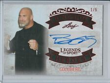 Bill Goldberg 2015 Leaf Legends of Sport Red Autograph Auto 1/5 WWE HOF WCW