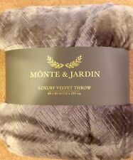 "Monte And Jardin Luxury Velvet Throw 60"" x 80""  gray"