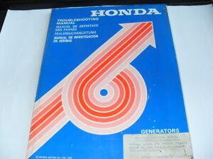 Honda generators Troublshooting manual