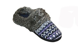 Dearfoams Womens' Fairisle Knit Clog Slipper  Medium (7-8)