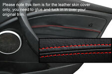 RED STITCH 2X FRONT DOOR CARD TRIM COVERS FITS RENAULT MEGANE MK3 08-13 5DR