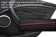 Rojo Stitch 2x Frontal Puerta Tarjeta Moldura Cubre encaja Renault Megane Mk3 08-13 Philippines