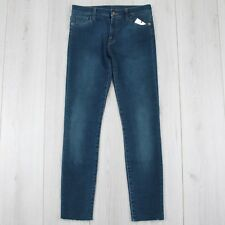 GUCCI 980$ Authentic Skinny Blue Denim Pants, Jeans With Floral Embroideries