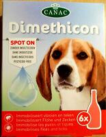 6 x Flohmittel für Hunde Hund gegen Zecken Flöhe Spot On  Dimethicon 6 x 1,5ml