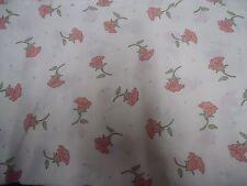 VINTAGE PINK & GREEN FLORAL Fabric Remnant ( 55cm x 50cm)