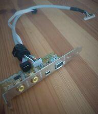 Asus Rückblech SPDIF in/out + FireWire 400 IEEE1394 + DV500 Backpanel Slot