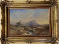 Adrianus David Hilleveld, Orig. Ölgemälde, Abraham Hulk Schüler, Landschaft 1862