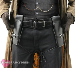 DELUXE GUN HOLSTERS WILD WESTERN HOLSTER AND BELT COWBOY FANCY DRESS COSTUME