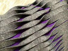 *Rare!* Anne Kyyro Quinn Bespoke Twist Cushion Cover Wool Felt Gray and Purple