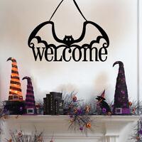 Halloween Welcome Pumpkin Bat Hanging Props Home Door Wall Hanging Penda 3C